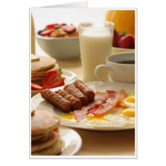 Cartes Sympathie - petit déjeuner