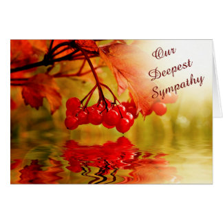 Cartes Sympathie rouge de réflexion de baie