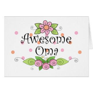 Cartes T-shirt impressionnant d'Oma