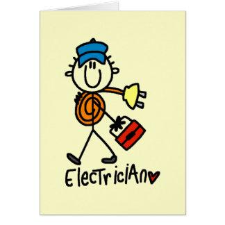 Cartes T-shirts et cadeaux de base d'électricien