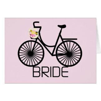 Cartes T-shirts et cadeaux de jeune mariée de bicyclette