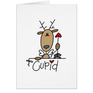 Cartes T-shirts et cadeaux de Noël de renne de cupidon