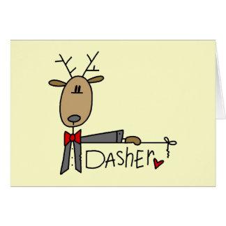 Cartes T-shirts et cadeaux de Noël de renne de Dasher