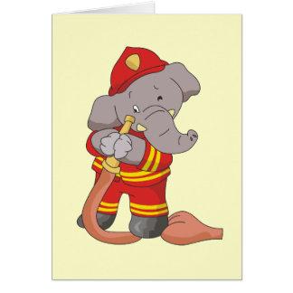 Cartes T-shirts et cadeaux d'éléphant de sapeur-pompier
