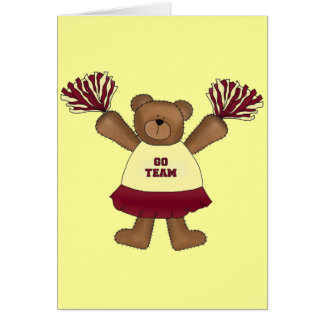 Cartes T-shirts et cadeaux d'ours de pom-pom girl de Pom