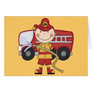 Cartes T-shirts et cadeaux masculins de sapeur-pompier