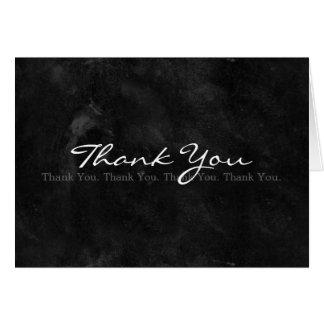 Cartes Tableau noir noir et blanc simple de Merci