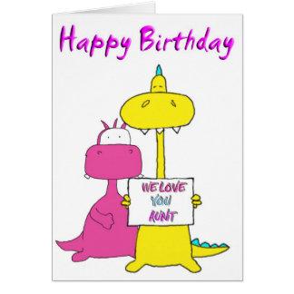 Cartes tante de joyeux anniversaire