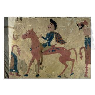 Cartes Tapis dépeignant un guerrier monté