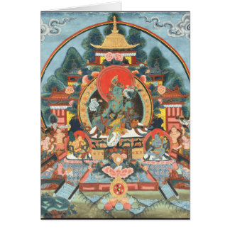 Cartes Tara vert avec le bourdonnement de l'OM Mani Padme