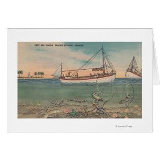 Cartes Tarpon Springs, FL - vue de bateau et de mer