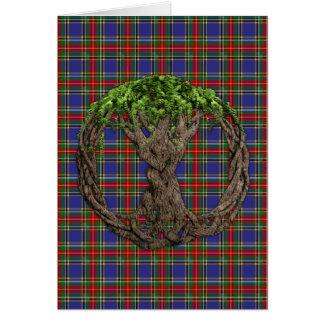 Cartes Tartan de Macbeth de clan et arbre de la vie