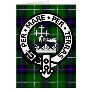 Cartes Tartan et crête écossais de Donald de clan