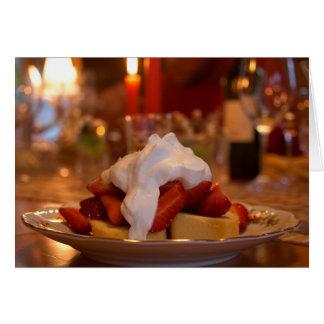Cartes Tarte sablée de fraise avec Whipcream