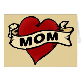 Cartes Tatouage de coeur de maman