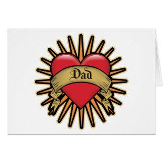 Cartes Tatouage de coeur de papa