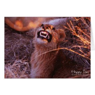 Cartes Tau heureux, lion CUB de sourire