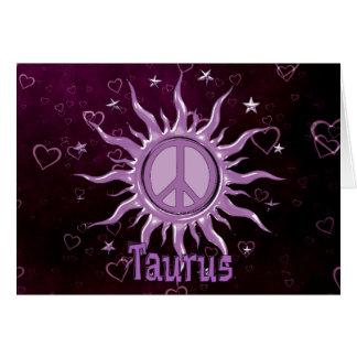 Cartes Taureau de Sun de paix