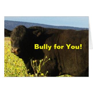 Cartes Taureaux de bétail de ferme de ranch de