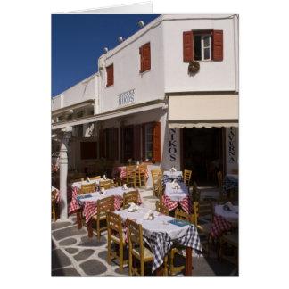 Cartes Taverna Nikos, Mykonos, îles de Cyclades, Grèce