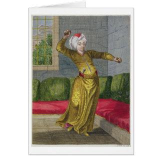 Cartes Tchingui, danseur turc, XVIIIème siècle (gravure)