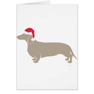 Cartes Teckel classique de Père Noël Doxie