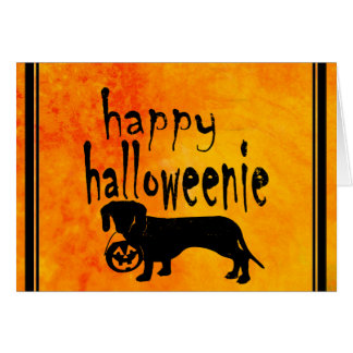 Cartes Teckel de des bonbons ou un sort de Halloween
