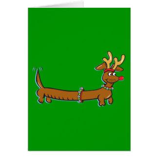 Cartes Teckel de Noël