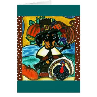 Cartes Teckel de thanksgiving