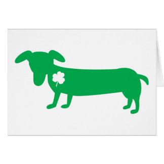 Cartes Teckel du jour de St Patrick
