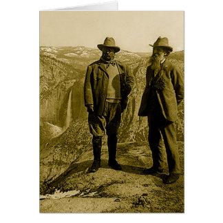 Cartes Teddy Roosevelt et John Muir au point de glacier