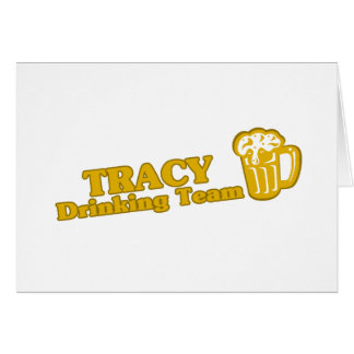 Cartes Tee - shirts potables d'équipe de Tracy