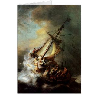 Cartes Tempête sur la mer de la Galilée