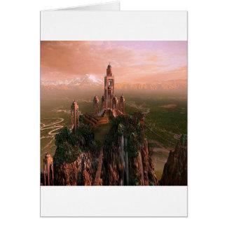 Cartes Temple abstrait de ville de lumière