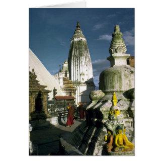 Cartes Temple bouddhiste à Katmandou, Népal