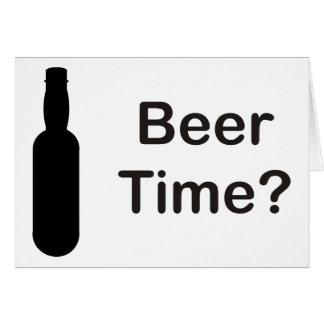 Cartes Temps de bière ?