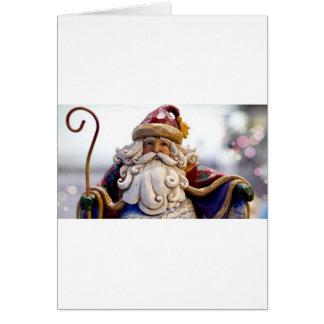 Cartes Temps de Noël de Noël du père noël Nicholas