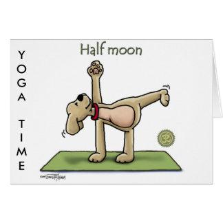 Cartes Temps de yoga de demi-lune