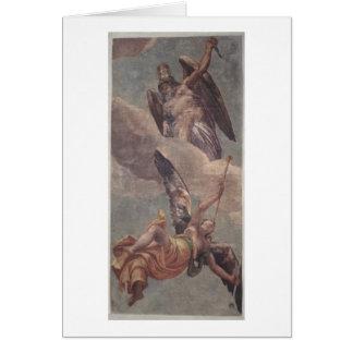 Cartes Temps et renommée, de la sacristie (fresque)