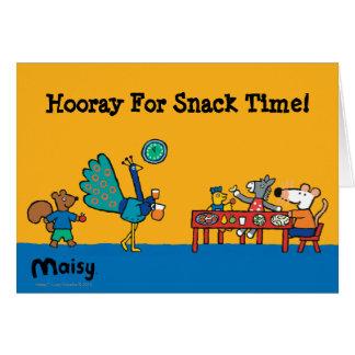Cartes Temps préscolaire de Maisy et de casse-croûte