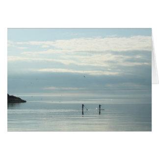 Cartes Tenez Paddleboarders sur le lac Supérieur