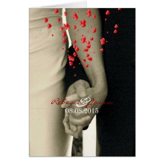 Cartes tenir des mains Balack et le mariage blanc