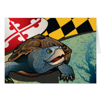 Cartes Terrapin de citoyen, la tortue du Maryland