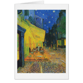 Cartes Terrasse de café de Van Gogh | la nuit | 1888