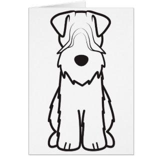 Cartes Terrier blond comme les blés doucement enduit