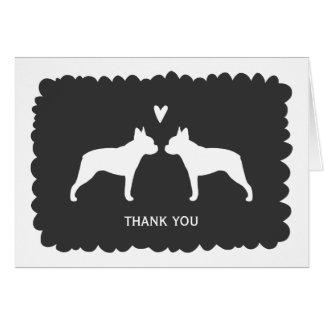 Cartes Terriers de Boston épousant le Merci