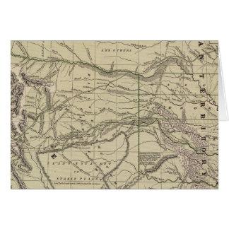 Cartes Territoire indien, le Texas du nord, Nouveau