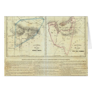 Cartes Territorios de Sierragorda e Isla del Carmen