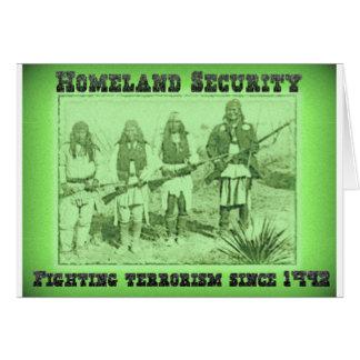 Cartes Terrorisme de combat de sécurité de patrie depuis