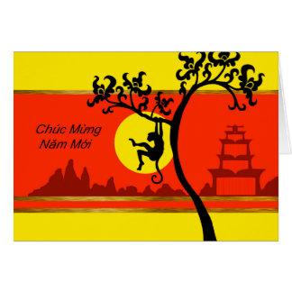 Cartes Tet, nouvelle année lunaire vietnamienne du singe